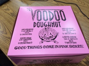 Voodoo's famous pink box.