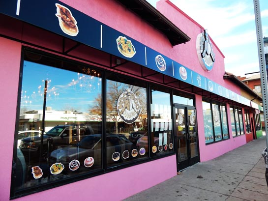 Voodoo Doughnut shop in Denver